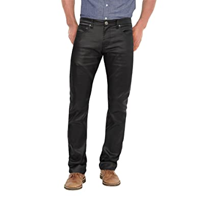 Agile Mens Slim Fit Stretch Fashion Casual Faux Leather Pants at Amazon Men's Clothing store