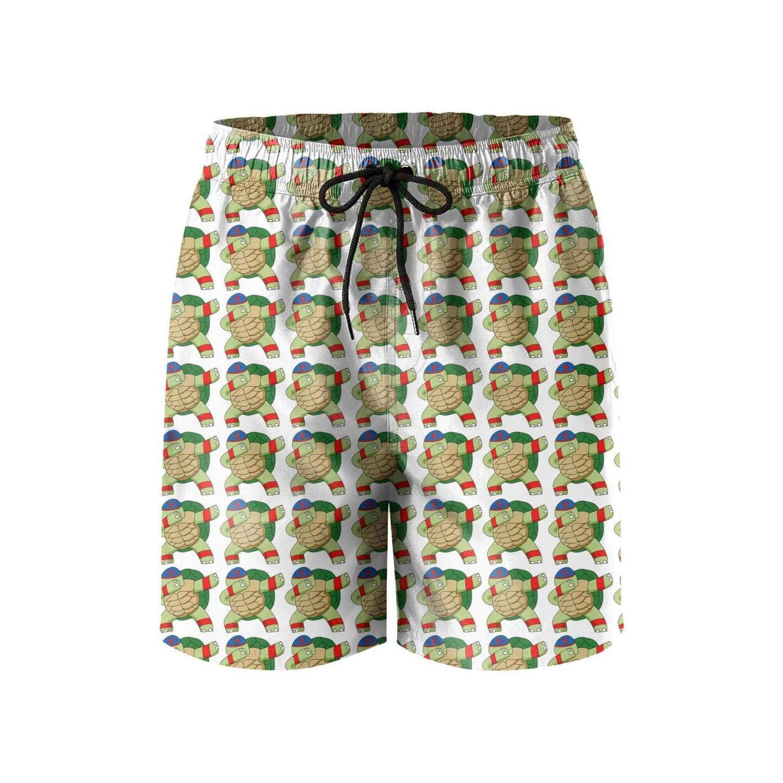 COVASA Unique Dabbing Zebra Dab Hip Hop Funny Quick Dry Mens Beach Board Shorts,