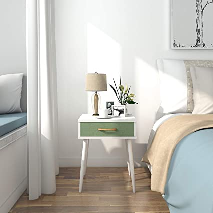 Modern Side Table Modern Bedside Table Design.Amazon Com Lifewit Nightstand With 1 Fabric Drawer Bedroom