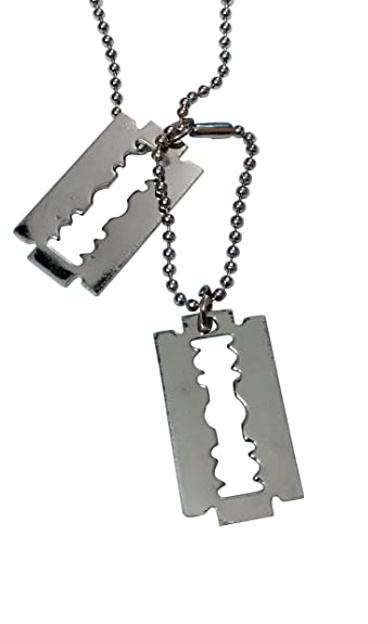 Metal silver color double blade locket with chain mens jewellery metal silver color double blade locket with chain mens jewellery thecheapjerseys Choice Image