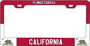 R and R Imports Plumas Eureka California Metal License Plate Frame