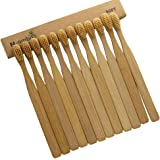 12 Pieces N-amboo Bamboo Toothbrush Soft Beige Nylon Bristles Manual Toothbrush Adult Toothbrushes Natural Bamboo Eco-friendly High Quality
