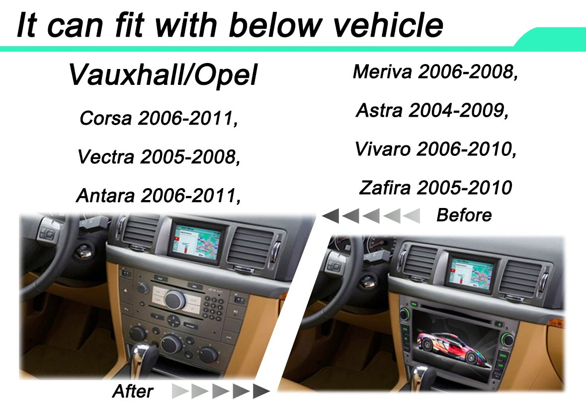 Yinuo 2din In Dash Gps 7 Inch Touchscreen For Vauxhall Opel Corsa C Central Locking Wiring Diagram 2006 2011 Vectra 2005 2008 Antara Meriva Astra 2004 2009