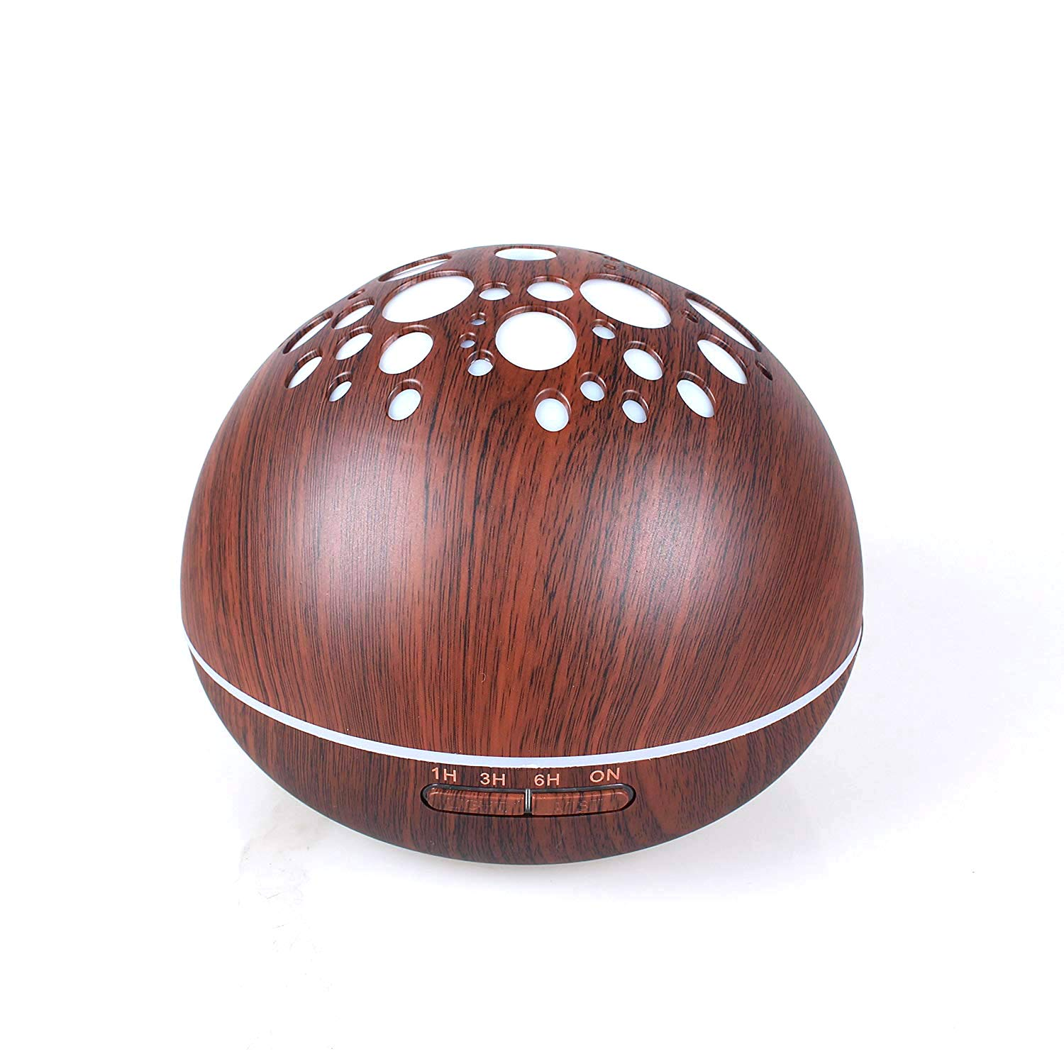 LUOYIMAN Humidifiers 300ml Cool Mist Humidifier Ultrasonic Aroma Essential Diffuser Automatic Shut-off with Variable Night Lights (Deep wooden color)