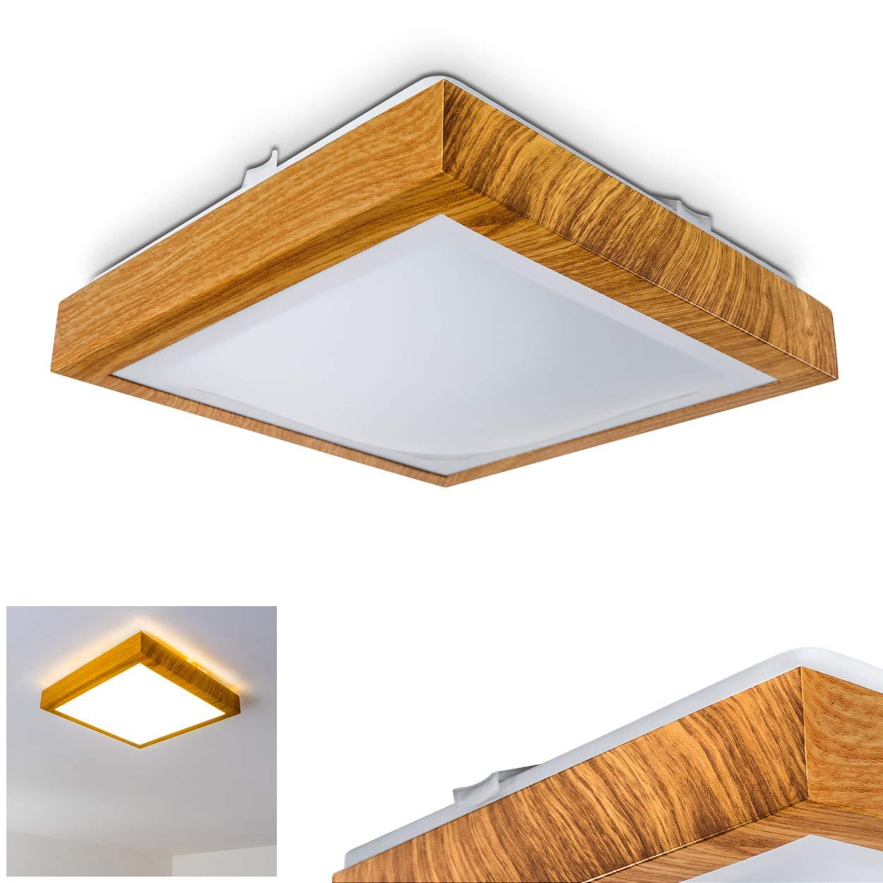 Bad-Lampe Sora Star aus gebürstetem Aluminium – Warmweißes LED-Licht mit 900 Lumen und 12 Watt für die Decke mit Sternendekor – Badezimmer-Beleuchtung im modernen Design hofstein