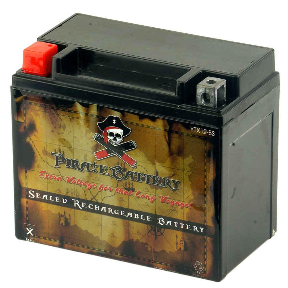 YTX12-BS High Performance Power Sports Rechargeable Battery - Maintenance Free - Sealed AGM Motorcycle Battery