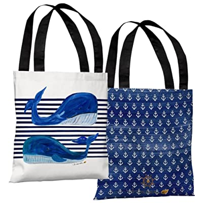 85%OFF Whale Buddies - White Tote Bag by Timree 18 x 18in