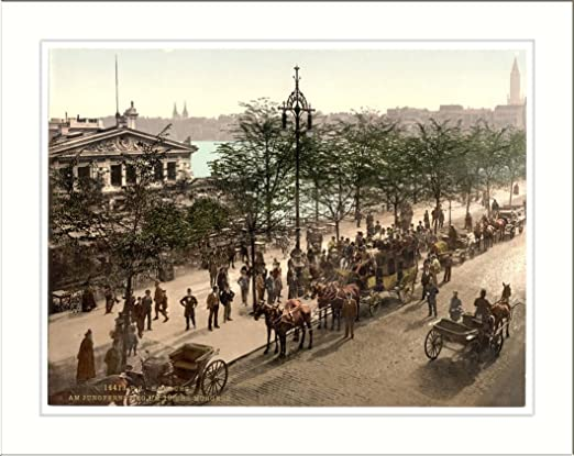Amazon.com: Jungfernsteig at 10 a.m. Hamburg Germany, c. 1890s, (L) Library  Image: Prints: Posters & Prints