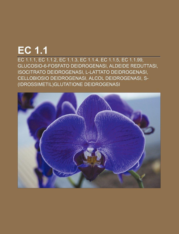 EC 1.1: EC 1.1.1, EC 1.1.2, EC 1.1.3, EC 1.1.4, EC 1.1.5, EC ...