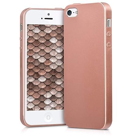 kwmobile Apple iPhone SE / 5 / 5S Hülle - Handyhülle für Apple iPhone SE / 5 / 5S - Handy Case in Metallic Rosegold