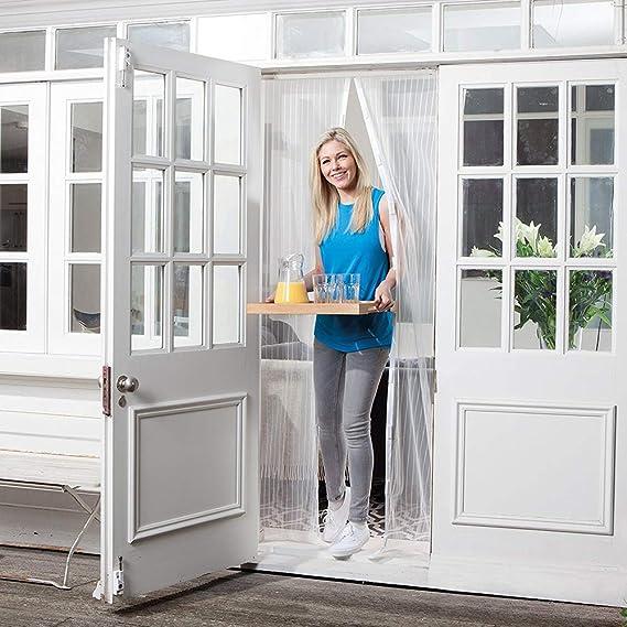 28x79inch YXDDG Sofortige fliegengitter f/ür Hunde Schwerer netzvorhang Katze Beweis Guard Anti-moskito-Magie mesh Full-Frame-Balkon-Design-Wei/ß 70x200cm