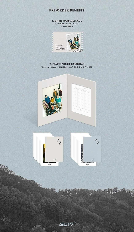 JYP Entertainment GOT7-7 for 7 Present Edition Random ver. CD+3Photocards+Pre-Order Benefit+Folded Poster+Extra Photocards Set