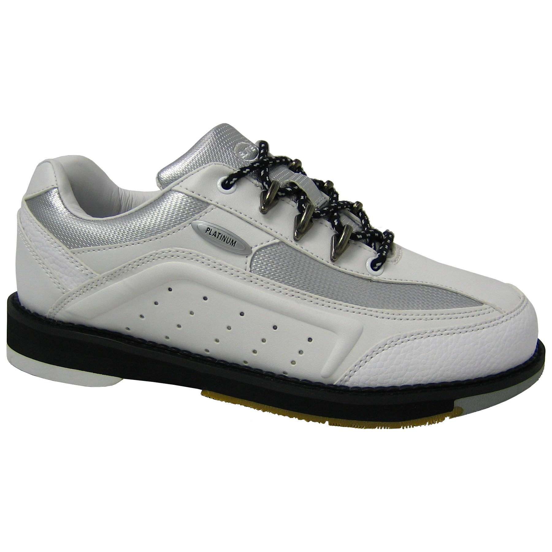 Elite Platinum White Right Hand Bowling Shoes - Womens 7
