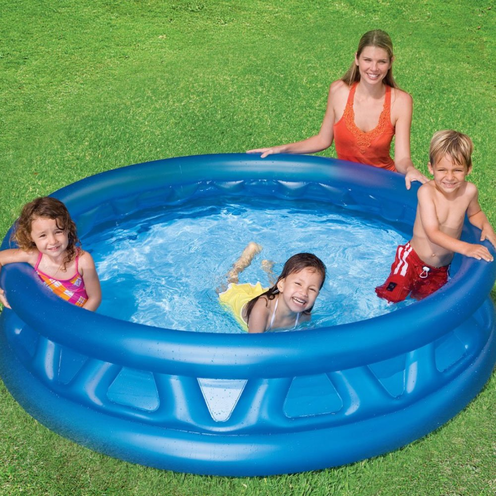 Intex Piscina Hinchable Infantil y Familia Redonda 188 x 46 cm Soft Side Pool