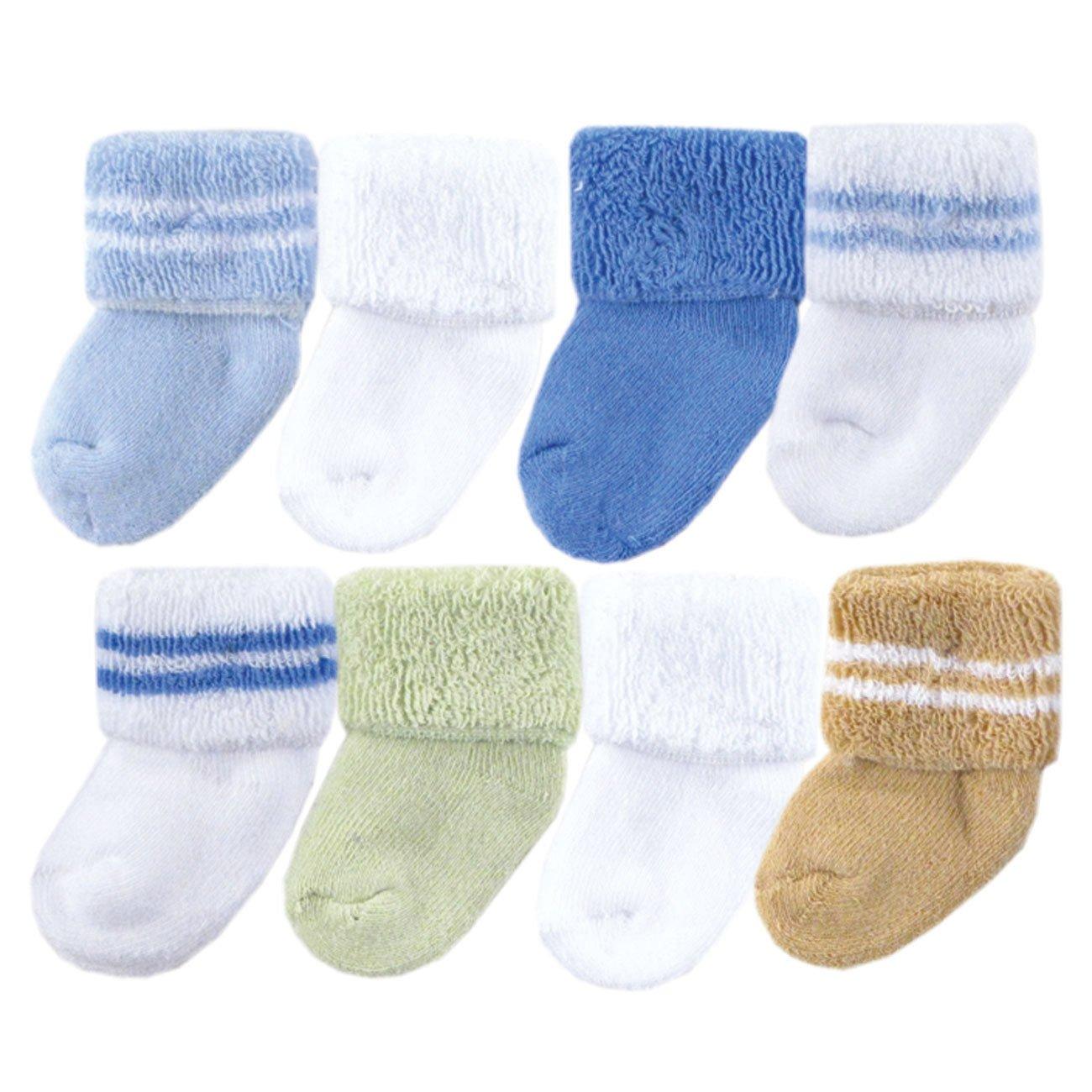 Luvable Friends Unisex Baby Socks, Blue