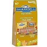 Ghirardelli Halloween Milk Chocolate Fall Duo Squares ギラデリハロウィンミルクチョコレートフォールデュオスクエア180g 1袋 [並行輸入品]