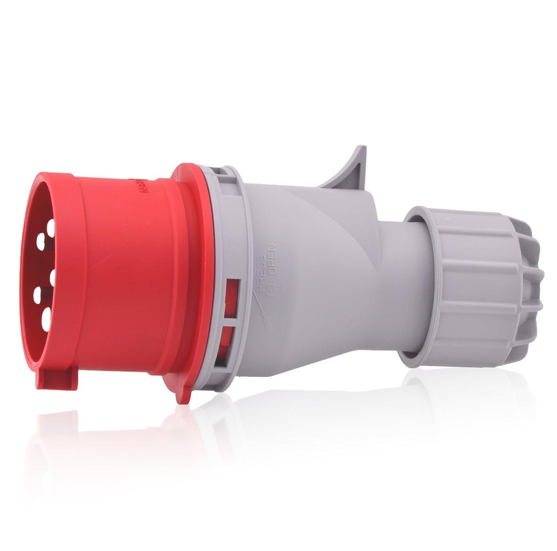 CEE-Starkstrom-Stecker Intratec 16A 400V 6h IP44 (spritzwassergeschü tzt) 5-polig (3P+N+E): IEC-60309 Industrie- und Mehrphasenstecker