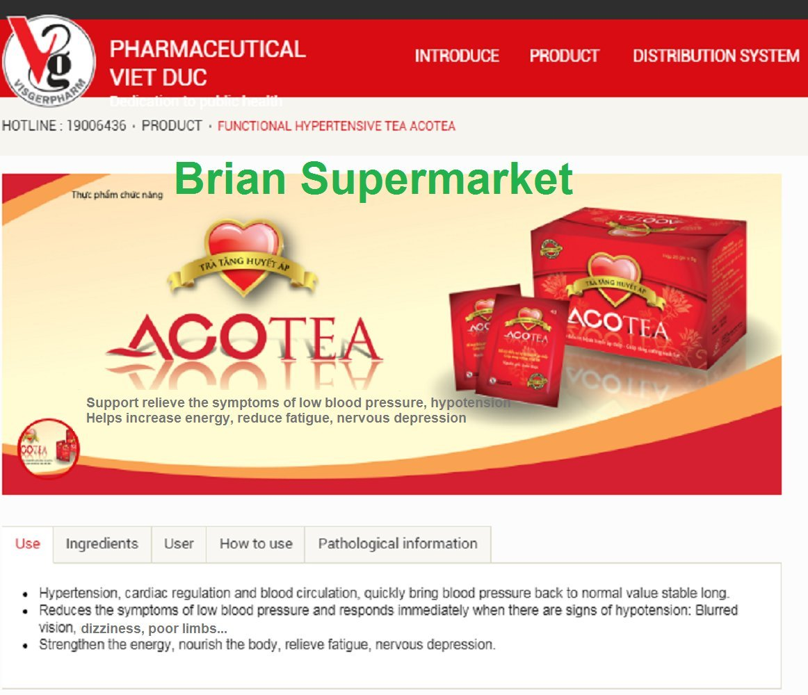 Amazon Aco Tea Increase Blood Pressure Used For Low Blood