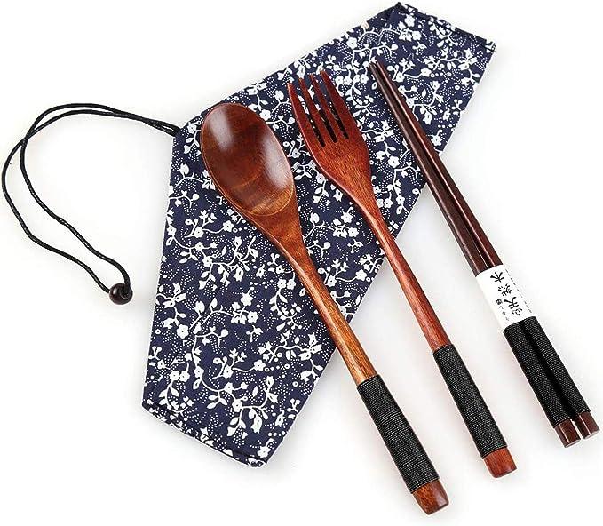 Japanese Style Wooden Chopsticks Holder Stand Rack Portable Kitchen Utensil AL