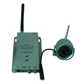 Kescom 815L Mini color radio brilla en la cámara de vigilancia de seguridad, 1A 4