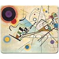 Deeoor - Art Mousepad - Natural Rubber Mouse Pad with Famous Abstract Fine Art Painting of Composition 8 by Wassily Kandinsky - Stitched Edges - 9.5x7.9 inches