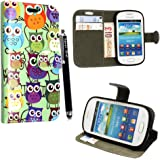 SAMSUNG GALAXY FAME S6810 PU LEATHER MAGNETIC FLIP CASE SKIN COVER POUCH + SCREEN PROTECTOR +STYLUS