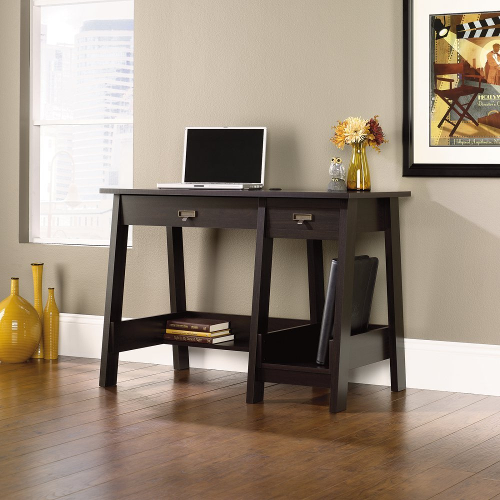 Sauder shoal creek executive desk in jamocha wood - Sauder Shoal Creek Executive Desk In Jamocha Wood 54