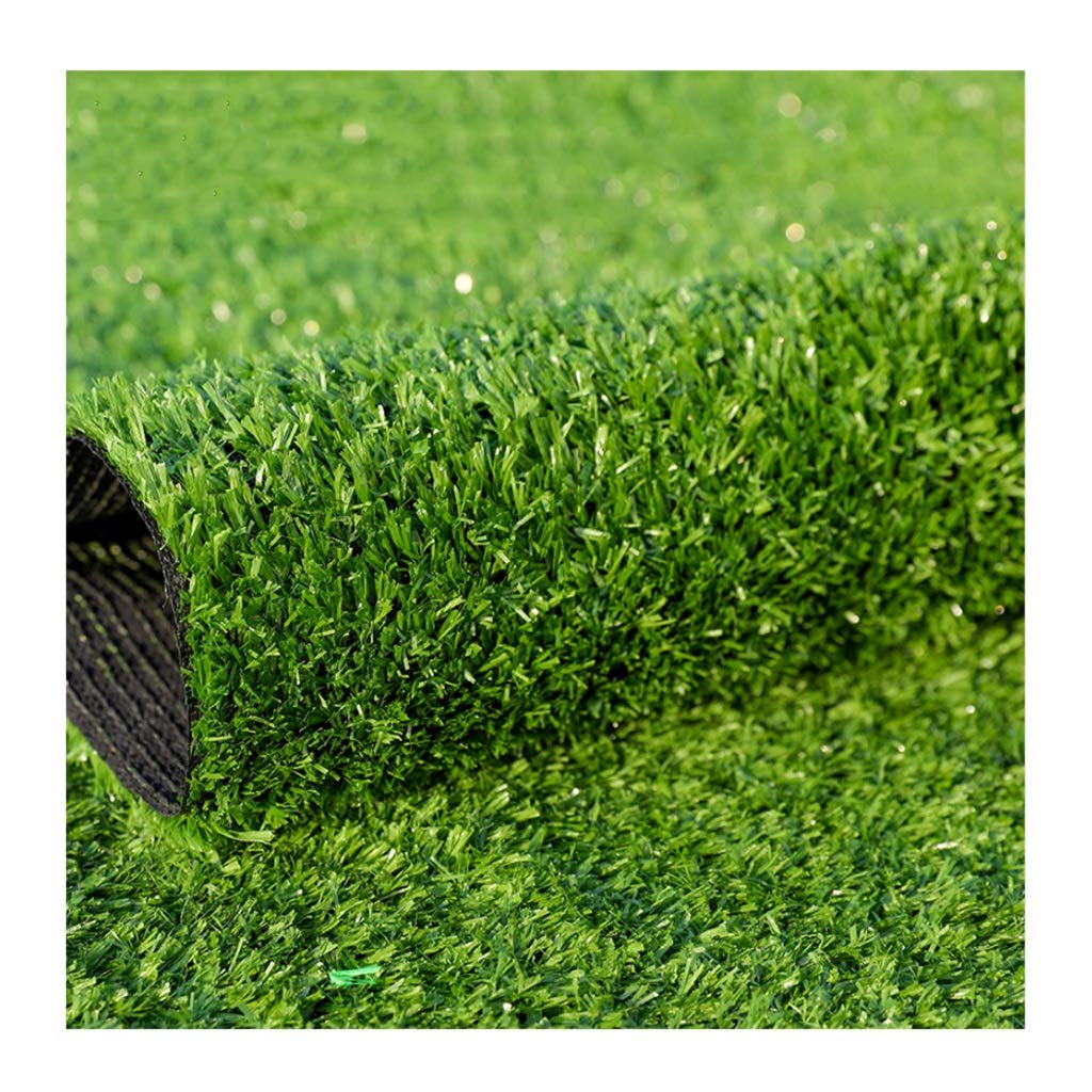 Armygreen 1x5mYNFNGXU Artificial Turf Super Dense Synthetic Lawn 15mm Pile Height, Dog Pet Indoor outdoor Landscape (2mx1m) (color   ArmyGreen, Size   1x5m)