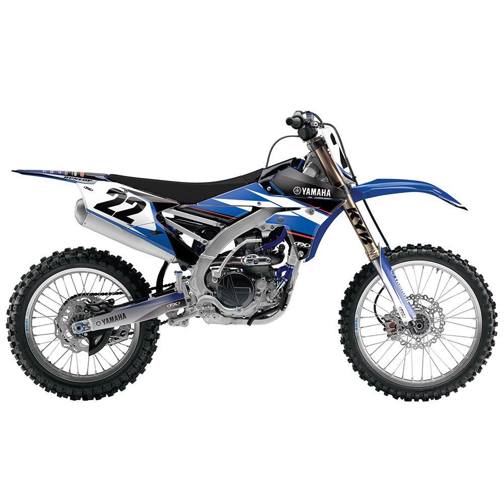 Factory Effex Black//White//Blue 20-01238 EVO Shroud//Airbox Graphic Kit Yamaha WR450 12-15