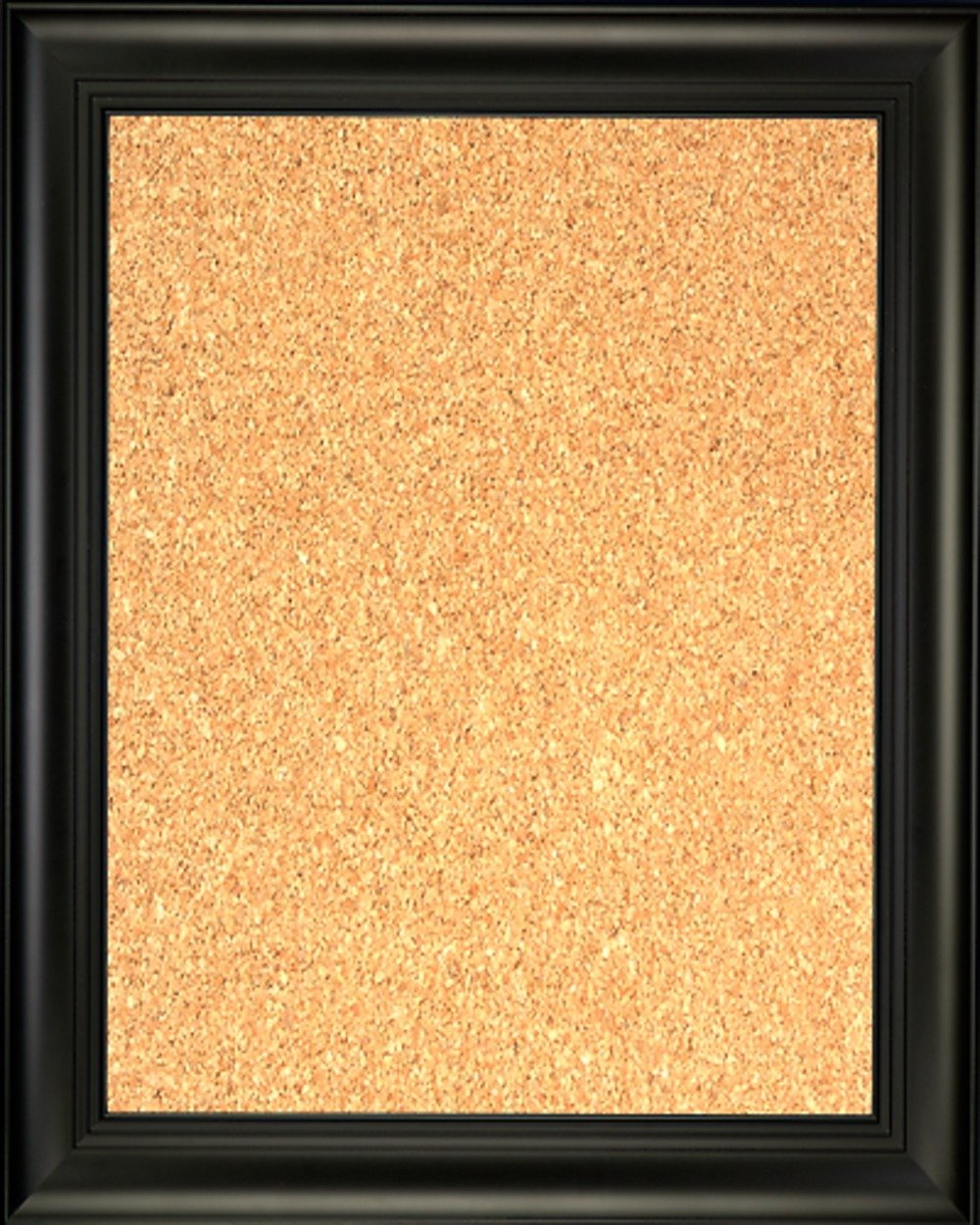 Framed Cork Board 24'' x 36'' - with Black Finish Frame with Triple Step Lip