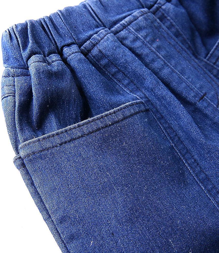 Ian/&Sophia Baby Boys Toddler Kids Wide Slub Pull-On Denim Shorts