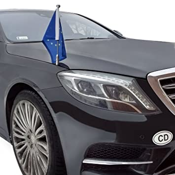 Car Flag Pole Diplomat Z Chrome Mb W222 For Mercedes