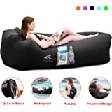 FRETREE Inflatable Lounger Air Sofa Hammock - Portable Anti-Air Leaking & Waterproof Pouch Couch and Beach Chair Camping…