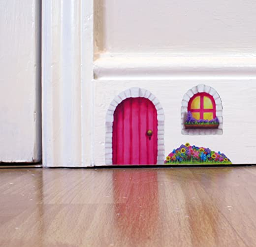 Pink Fairy Door Wall Sticker / Decal
