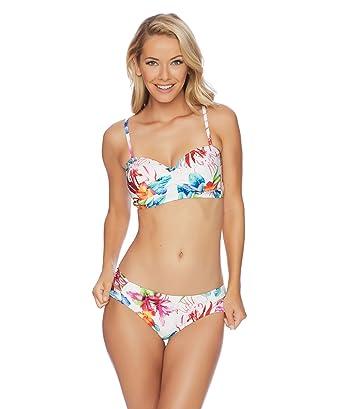 4576cf315b428 Amazon.com  Athena - Tropical Trip Mid-Kini Bikini Top  Clothing