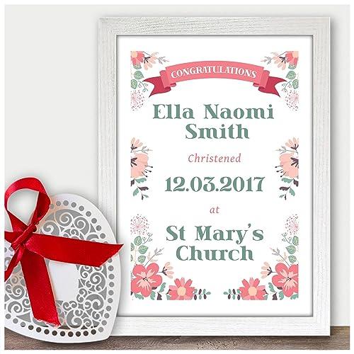 Christening Gifts For Girls Goddaughter Granddaughter Baby Girl Baptism Naming Day Gift Handmade Custom Christening Gifts For Baby Girls Boys A5