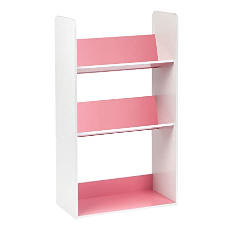 Amazon.com: IRIS 3-Tier Tilted Shelf Book Rack, Pink and White ...