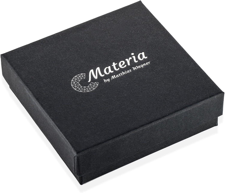 Materia #SO-359/_B4 Boucles doreilles cr/éoles en argent 925 plaqu/é or rose 17 mm