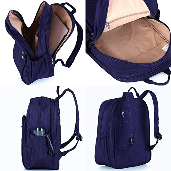 Amazon.com: Nylon Casual Travel Daypack Backpack with 15.6 Inch Laptop Compartment, with Trolley Strap, Large (Indigo Blue): Computers & Accessories