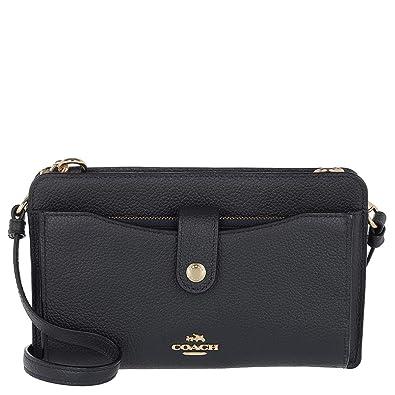 b59f1b41e97426 Amazon.com  Coach Women`s Pop-Up Messenger Bag In Polished Pebble Leather   Shoes
