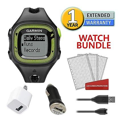 Amazon.com: Garmin Forerunner 15 GPS, grande, negro y azul ...