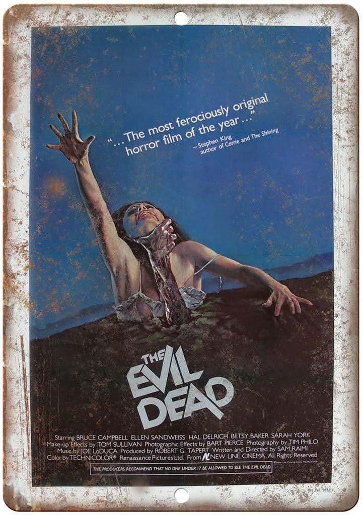 The Evil Dead Horror Movie P/óster De Pared Metal Vintage Placa Cartel Decorativas Esta/ño Signo Vendimia Plaque por Bar Caf/é Hogar Restaurante Dormitorio