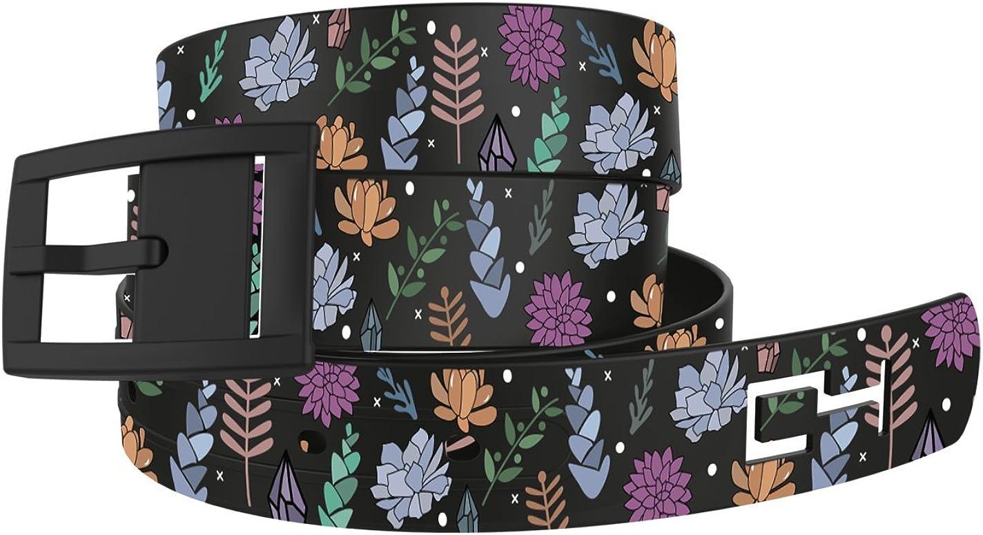 Black Succulents Belt with Black Buckle Great for Dresses or Active Lifestyle Waist Belt Fashion Belt for Women
