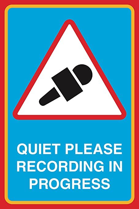 graphic about Printable Quiet Signs called Relaxed Make sure you Recording In just Breakthroughs Print Microphone Think about Consideration Studio Place of work Place of work Signal
