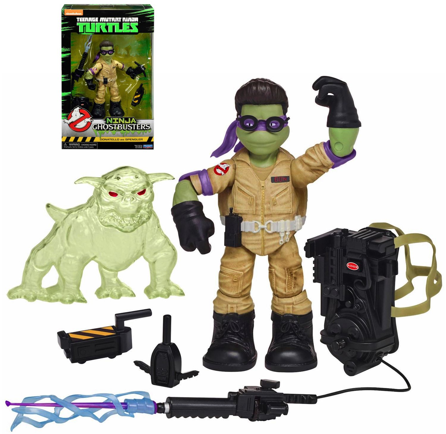Amazon.com: Ninja Ghostbusters Donatello as Spengler Action ...