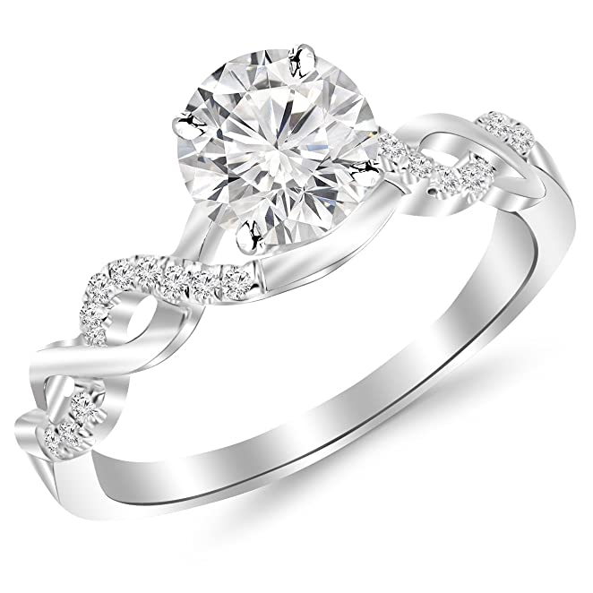 2 Carat Classic Prong Set Diamond Engagement Ring with a 15 Carat