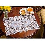 crochet crochet reusable doilies white set of 8 12