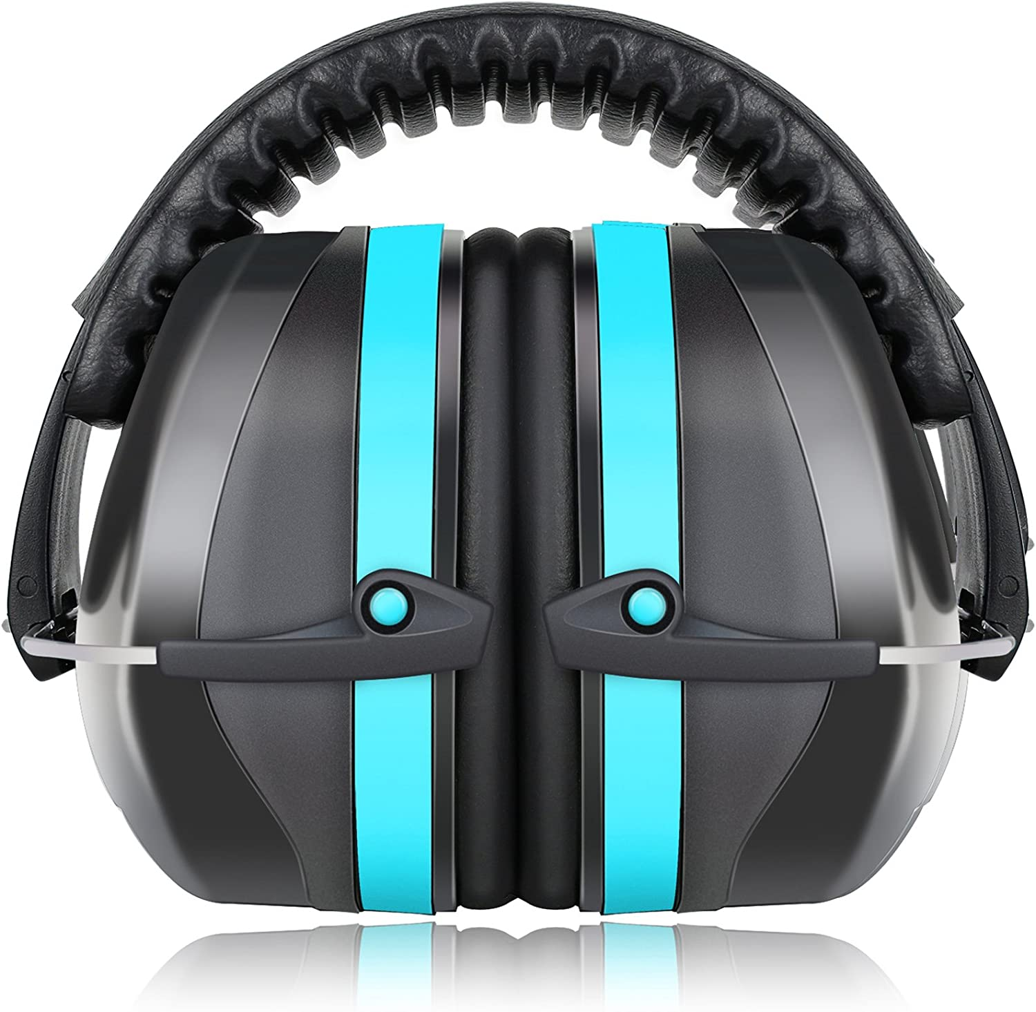 Fnova 34dB Highest NRR Safety Ear Muffs - Professional Ear Defenders for Shooting, Adjustable Headband Ear Protection/Shooting Hearing Protector Earmuffs Fits Adults to Kids - -