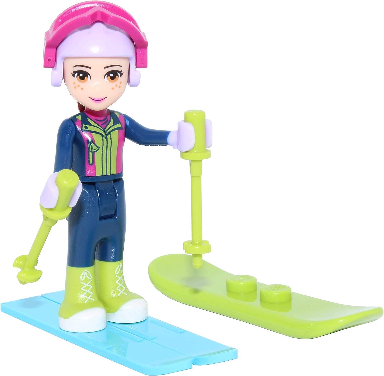 LEGO Friends: Mia with Ski Gear, Snowboard, Skis, and Ski Poles Minifigure