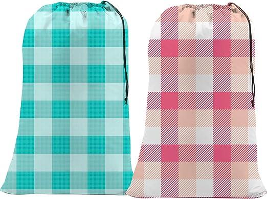 "DRAWSTRING CLOTHES NYLON XL 24/"" X 36/"" LOT OF 2 EXTRA LARGE MESH LAUNDRY BAGS"